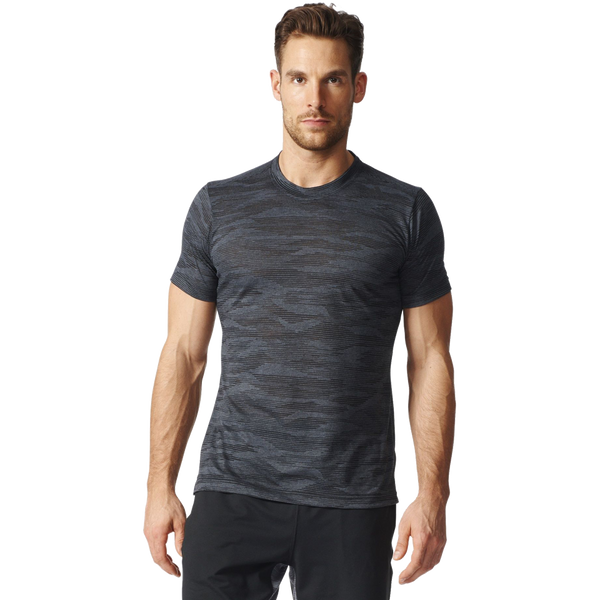 Adidas Men's Freelift Aeroknit Tee Grey/Black