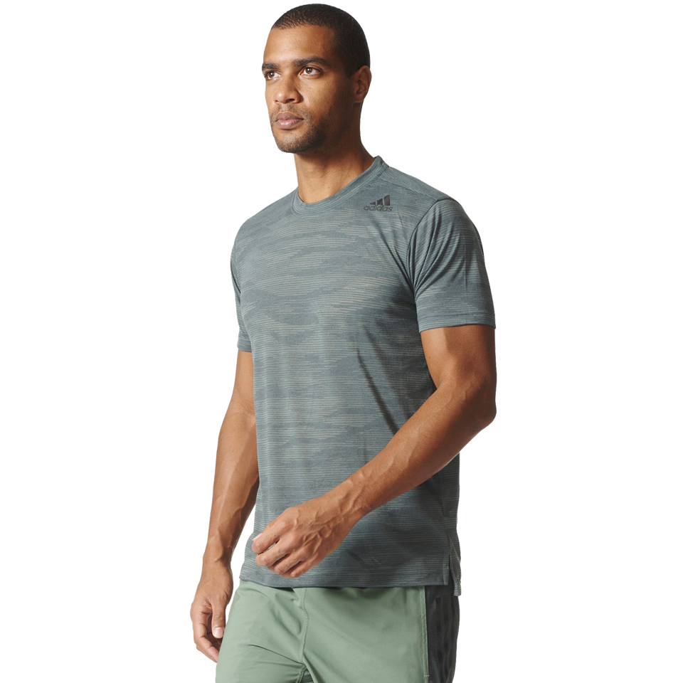 Adidas Men's Freelift Aeroknit Tee Utility Ivy