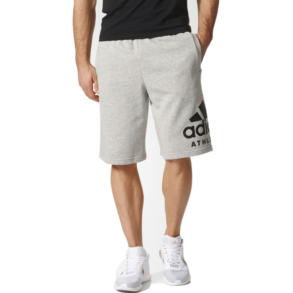 Adidas Men's Sid Athletics Logo Shorts Medium Grey Heather
