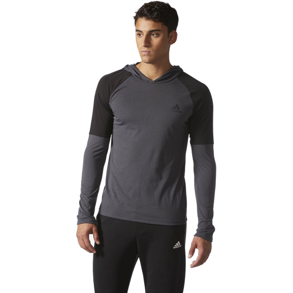 Adidas Men's Ultimate Hooded Tee Utility Black