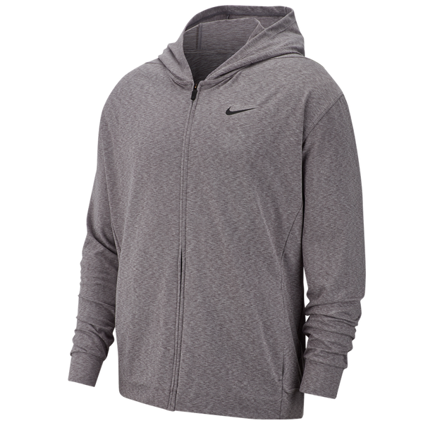 Nike Men's Dri-FIT Full-Zip Training Hoodie Gunsmoke