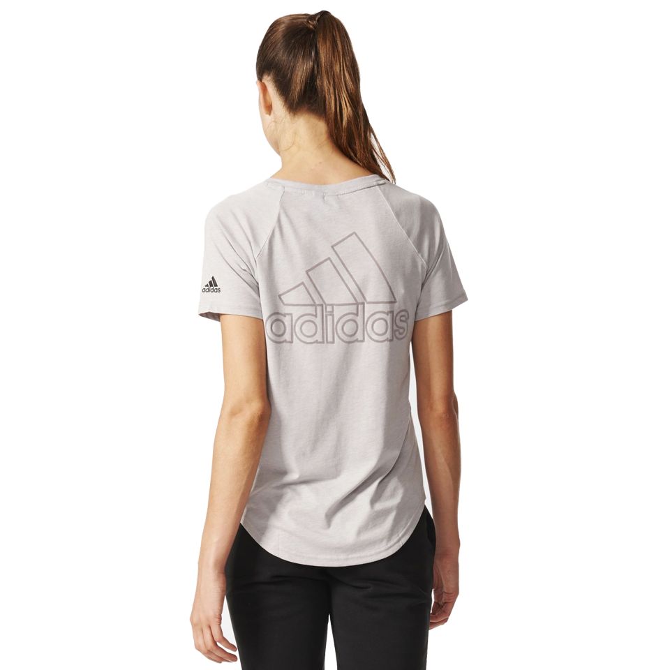Adidas Women's Image Tee Medium Grey Heather