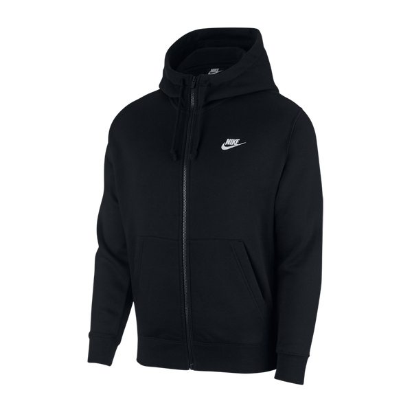 Nike Men's Nike Sportswear Club Fleece Full-Zip Hoodie Black