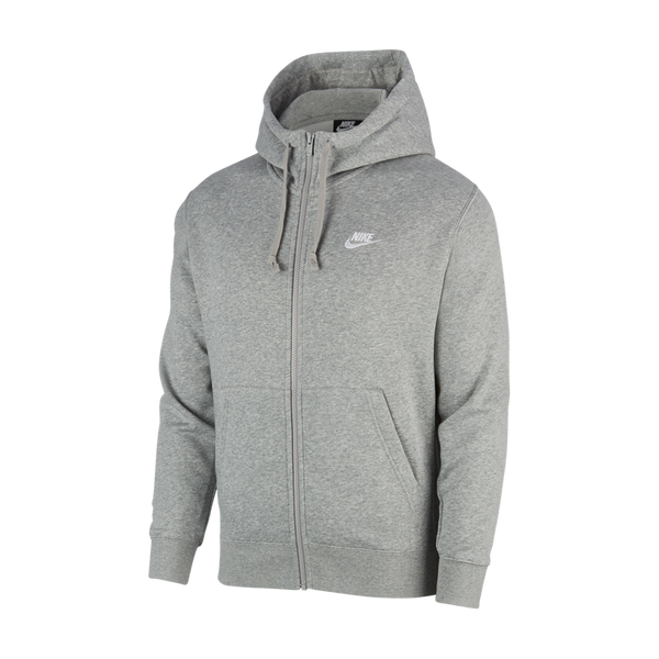 Nike Men's Nike Sportswear Club Fleece Full-Zip Hoodie Dark Grey Heather