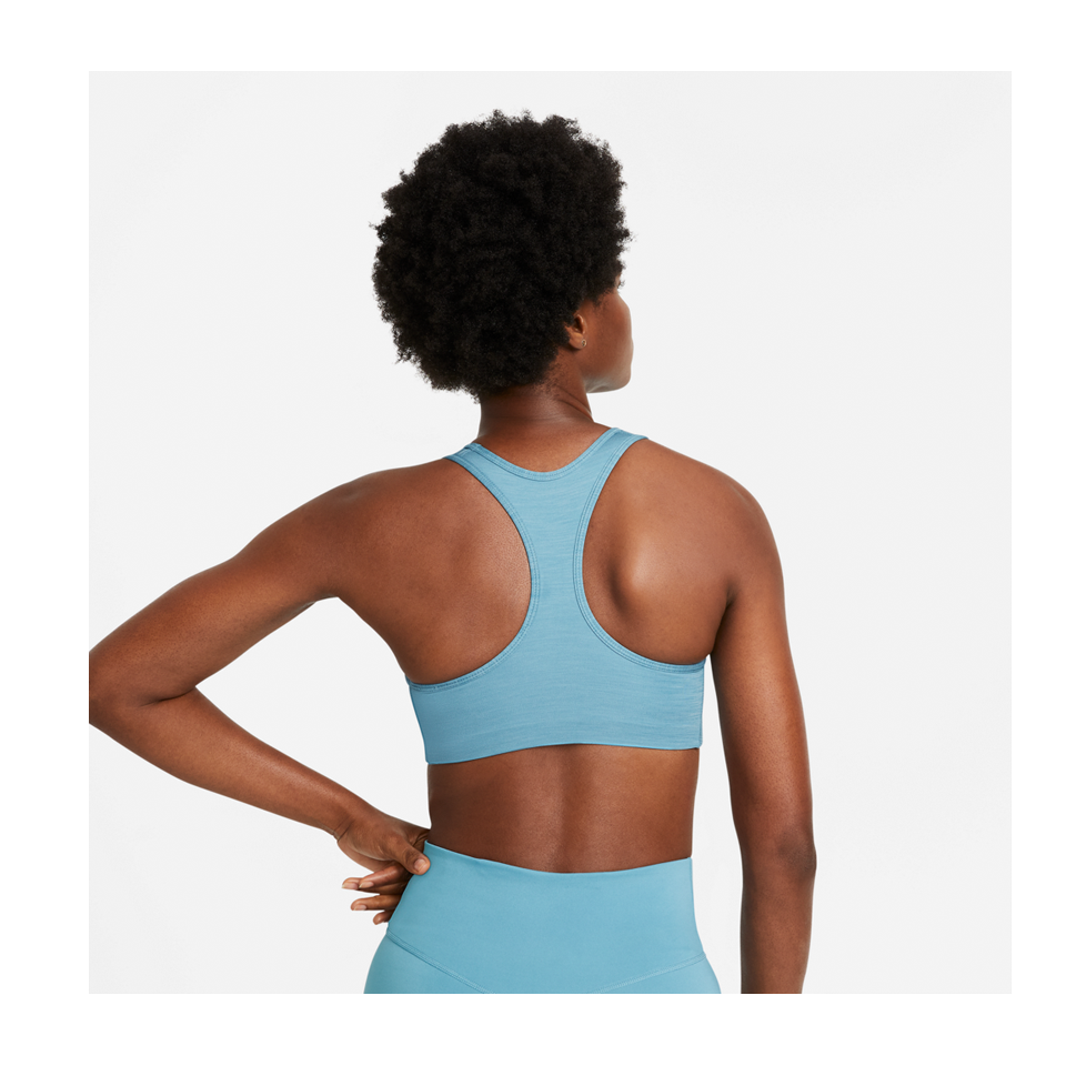 Nike Women's Nike Dri-FIT Swoosh Medium-Support 1-Piece Pad Sports Bra Cerulean