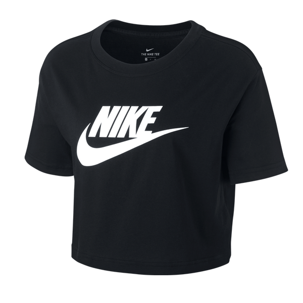 Nike Women's Nike Sportswear Essential Cropped T-Shirt Black