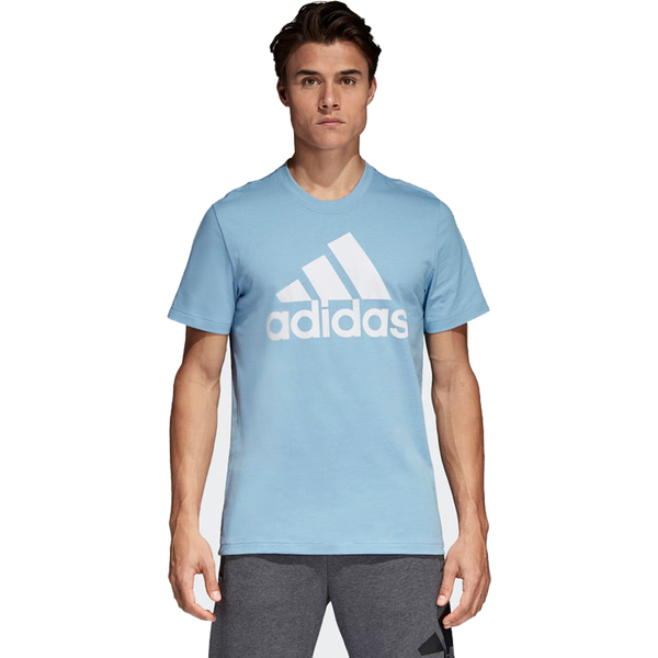 Adidas Men's Essential Linear Tee Ash Blue