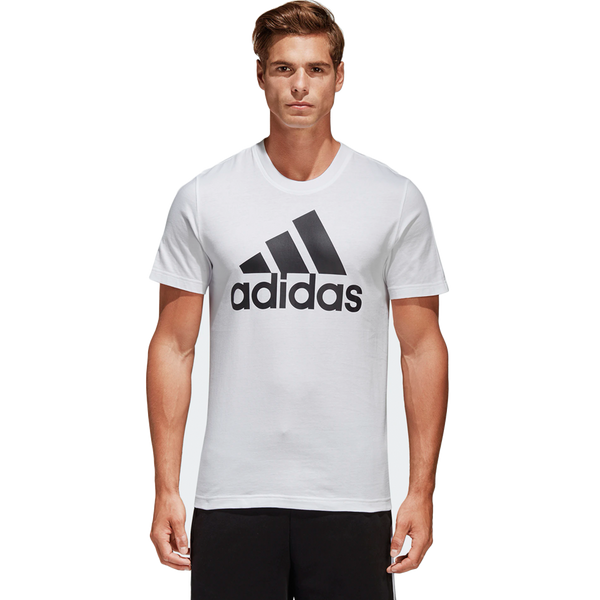 Adidas Men's Essential Linear Short Sleeve Tee White