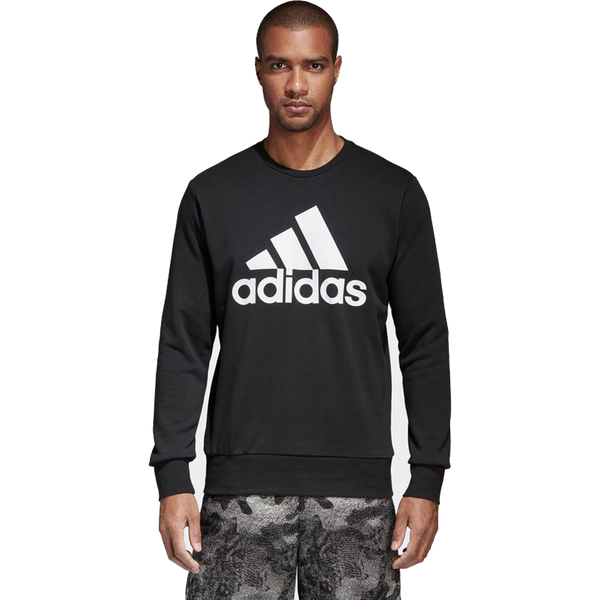Adidas Men's Essential Biglogo Crew Black