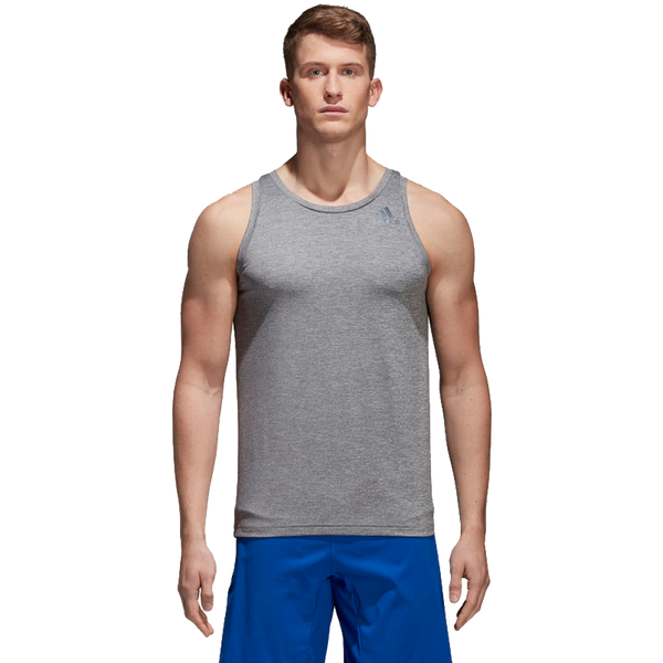 Adidas Men's FreeLift Textured Tank Top Carbon