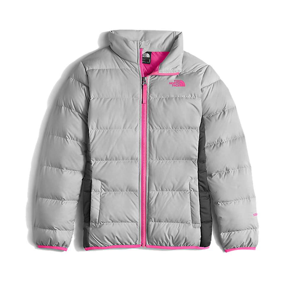 The North Face Girls Andes Down Jacket Metallic Silver