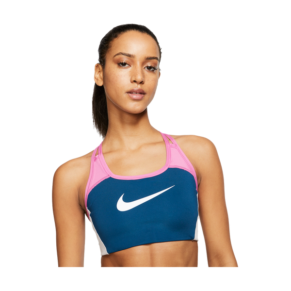 Nike Women's Swoosh Medium-Support 1-Piece Pad Sports Bra Valerian Blue