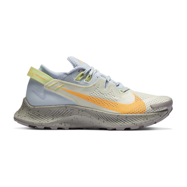Nike Women's Pegasus Trail 2 Pure Platinum/Laser Orange
