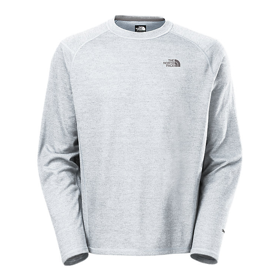 The North Face Men's FlashDry LongSleeve Crew Light Grey Heather