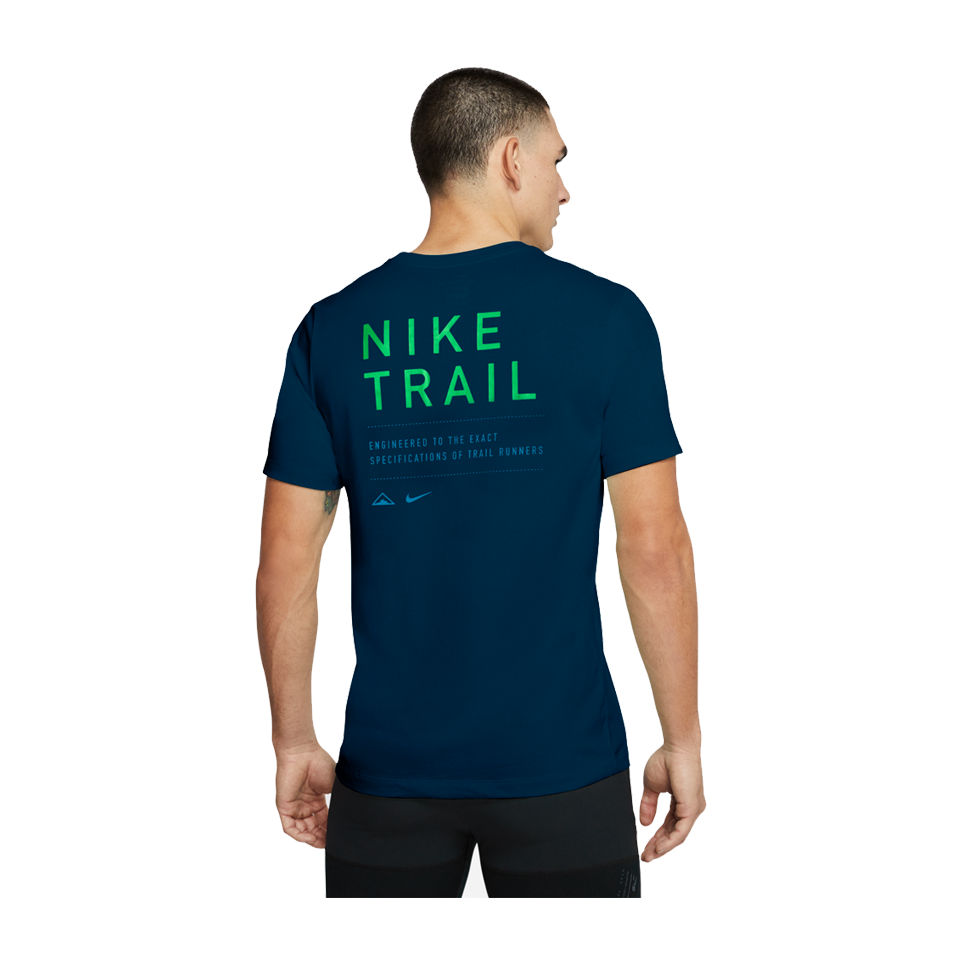 Nike Men's Dri-FIT Trail Running T-Shirt Valerian Blue