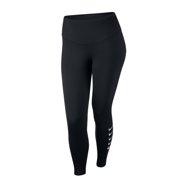 Nike Women's Swoosh Run 7/8 Running Tights Black