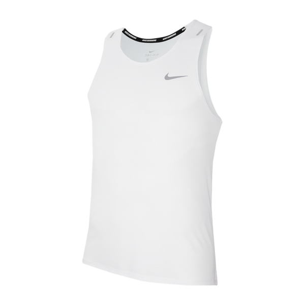 Nike Men's  Dri-FIT Miler Running Tank White