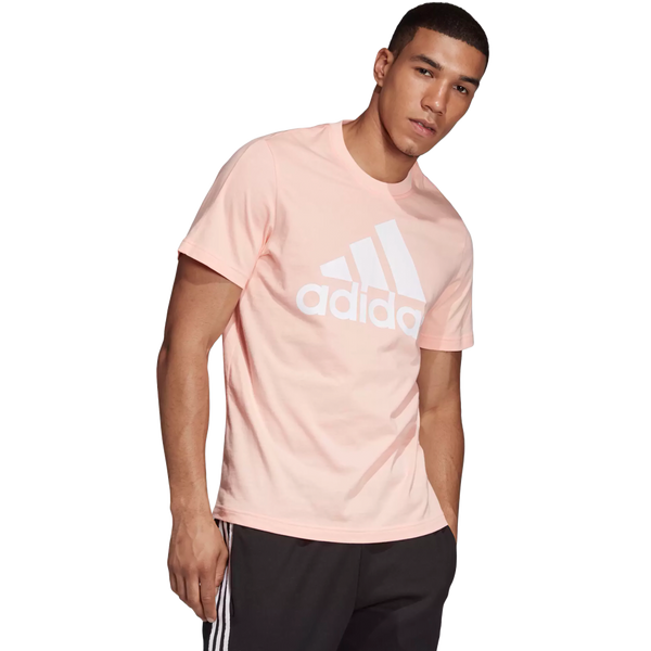 Adidas Men's Essential Linear Short Sleeve Tee Haze Coral