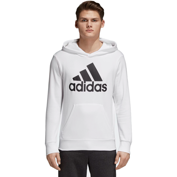 Adidas Men's Essential Linear Fleece Hoodie White