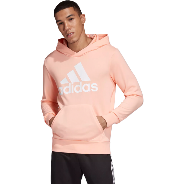Adidas Men's Essential Linear Fleece Pullover Haze Coral
