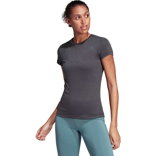 Adidas Women's Freelist Prime Tee Dark Grey Heather