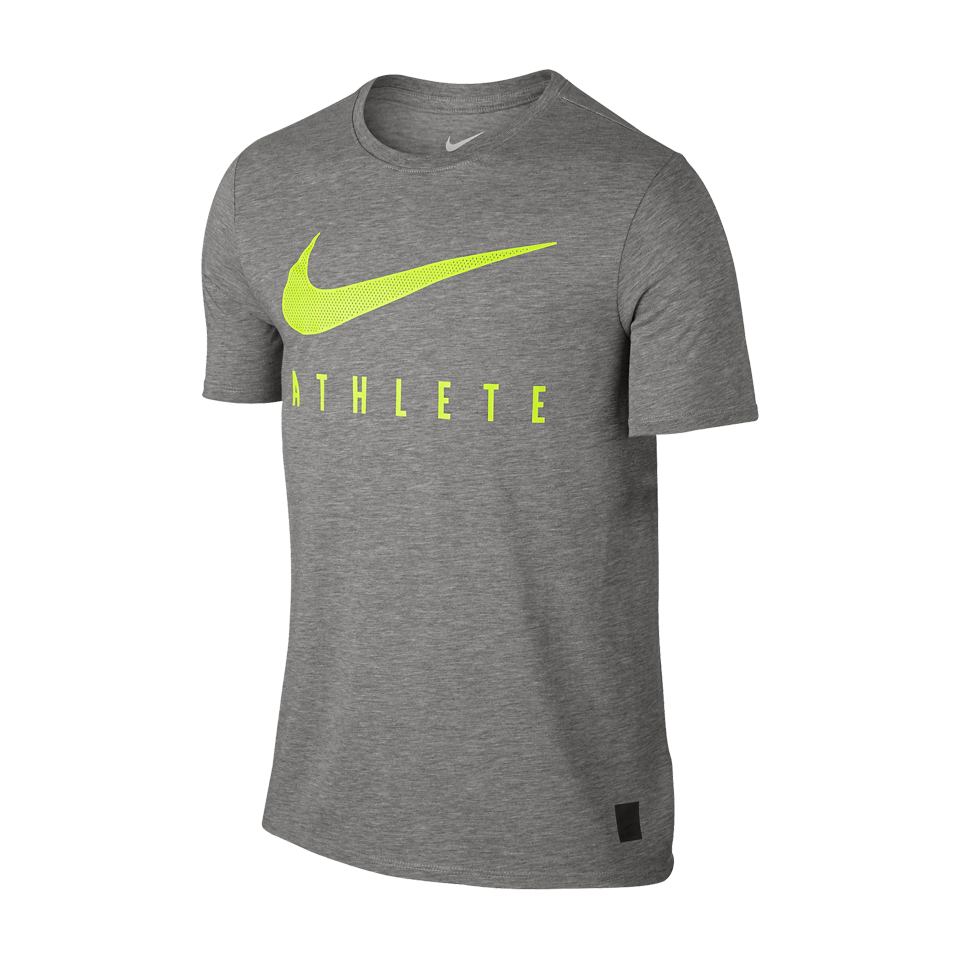 Nike Men's Dri-Blend Mesh Swoosh Athlete Dark Grey Heather