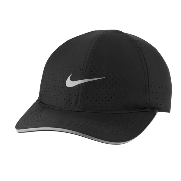Nike Dri-FIT Aerobill Featherlight	Perforated Running Cap Black