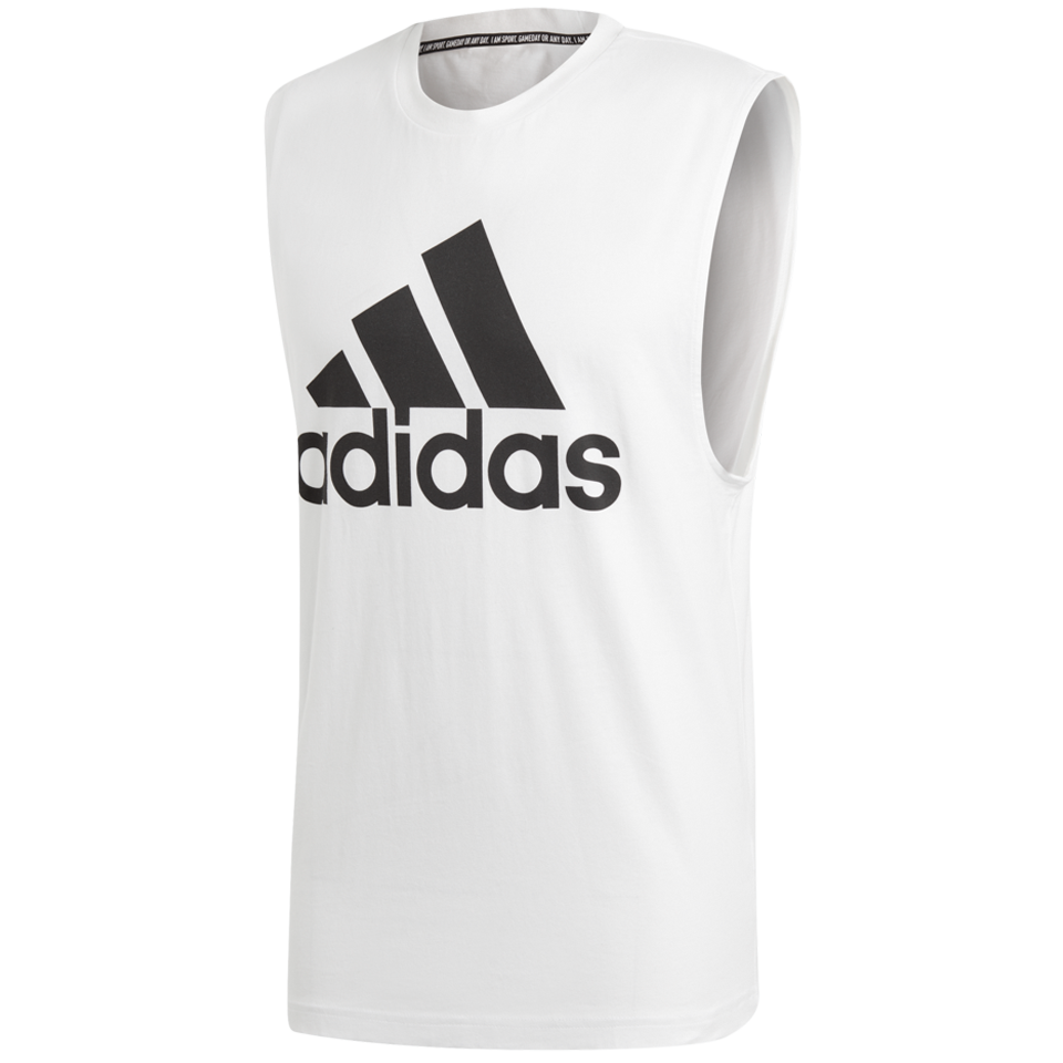 840a8f180f6f06 Adidas Men s Must Haves Badge of Sport Tank Top White - Play Stores Inc