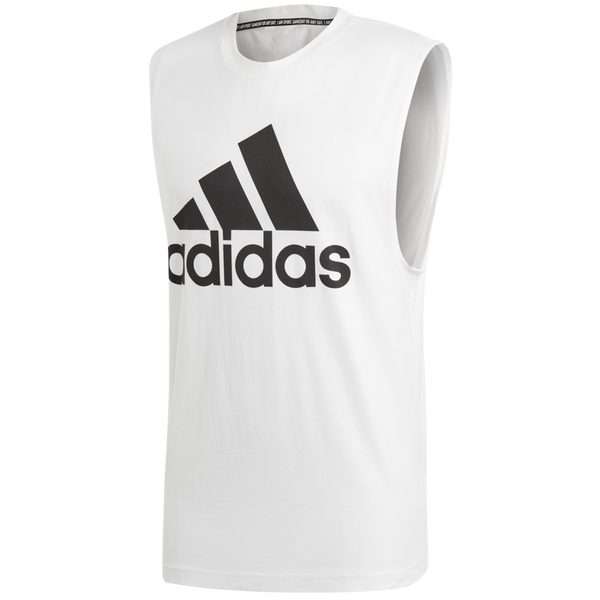 Adidas Men's Must Haves Badge of Sport Tank Top White