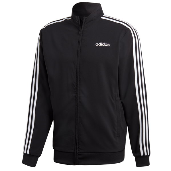 Adidas Men's Essentials 3-Stripes Track Jacket Black