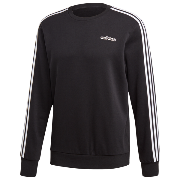Adidas Men's Essentials 3-Stripes Sweatshirt Black