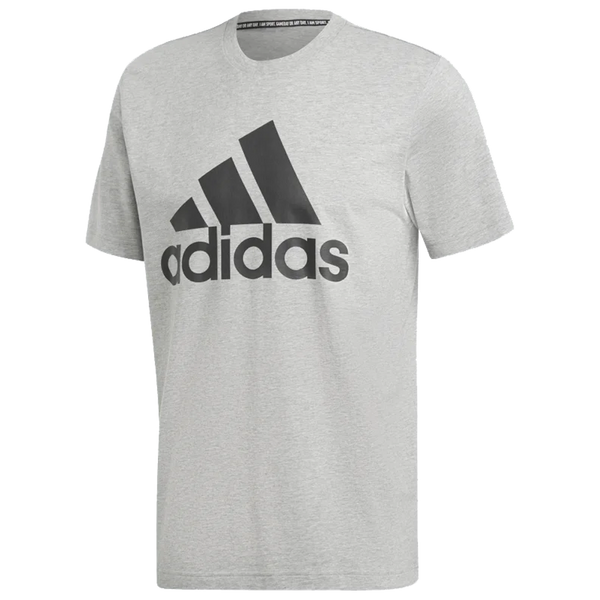 Adidas Men's Must Haves Badge of Sport Tee Medium Grey Heather