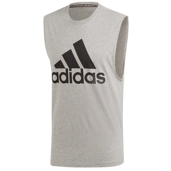 Adidas Men's Must Haves Badge of Sport Tank Top Medium Grey Heather