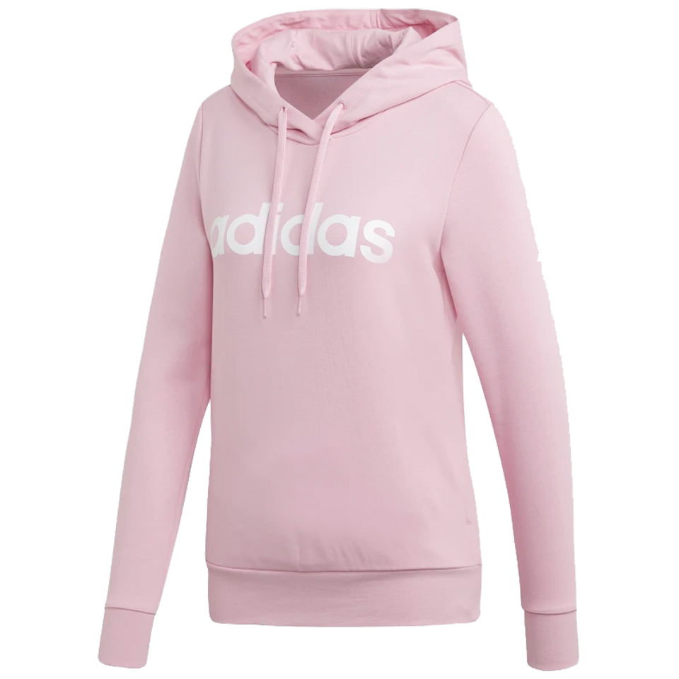 ca40c8b7a994 Adidas Women s Essentials Linear Pullover Hoodie True Pink - Play Stores Inc