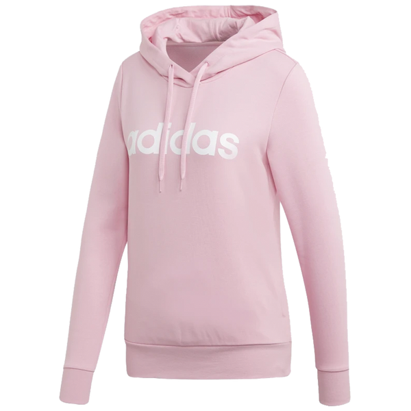 Adidas Women's Essentials Linear Pullover Hoodie True Pink