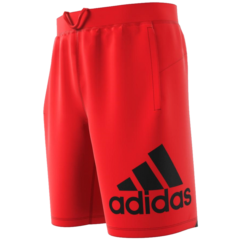 fd7c4ce91 Adidas Men's 4KRFT Sport Badge of Sport Shorts Active Red - Play ...