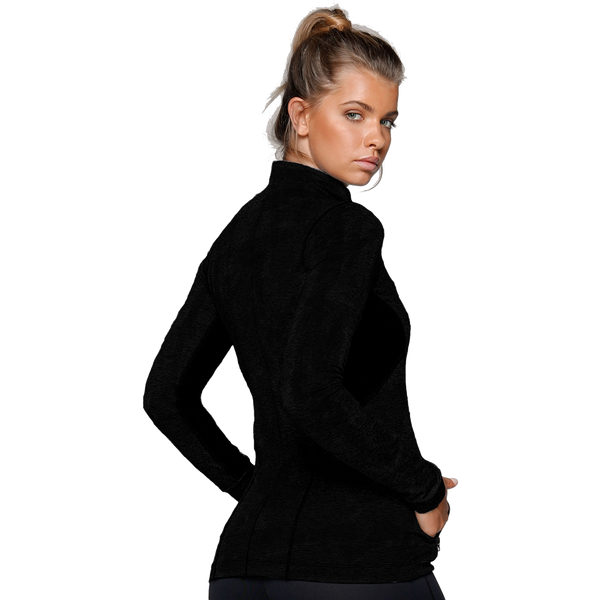 Lorna Jane Rally Excel Zip Through Black