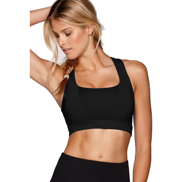 Lorna Jane Glamour Girl Sports Bra Black
