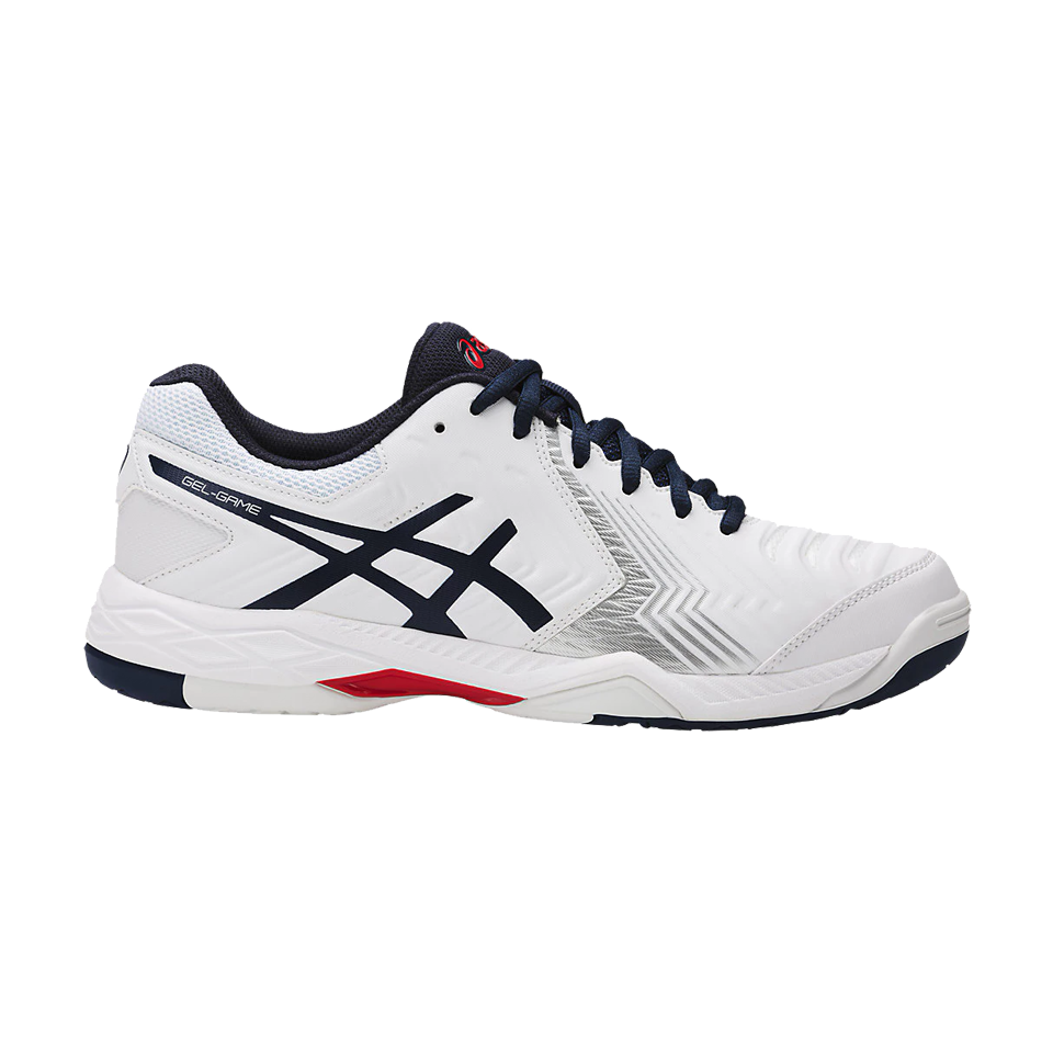 31dff7385a8a5 Asics Men s Gel Game 6 White - Play Stores Inc