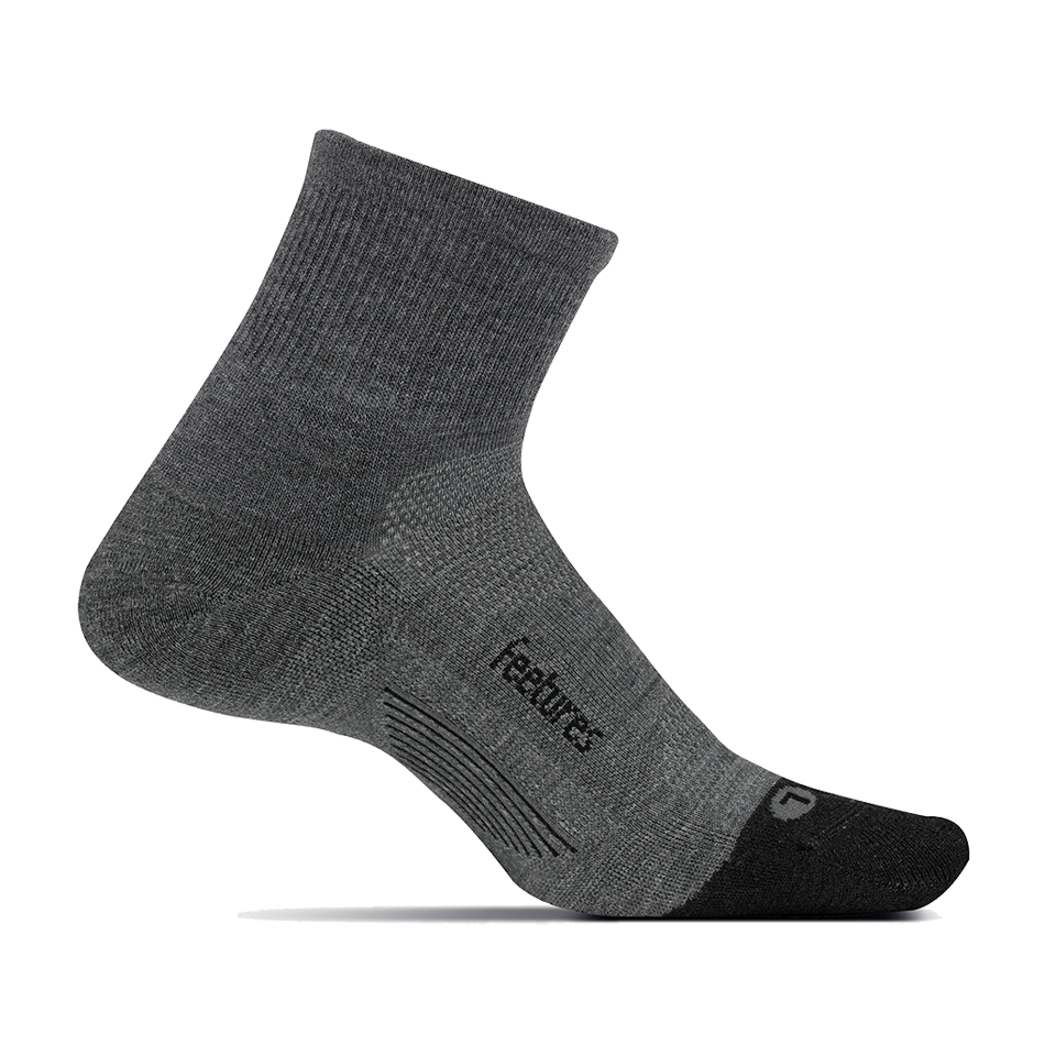 Feetures Merino 10 Cushion Quarter Gray