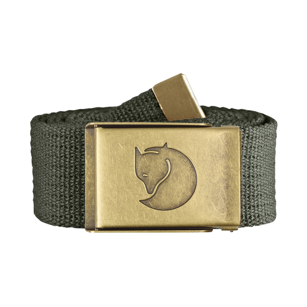 Fjallraven Canvas Brass Belt Mountain Grey