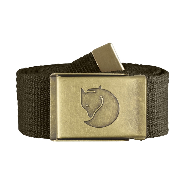 Fjallraven Canvas Brass Belt Dark Olive