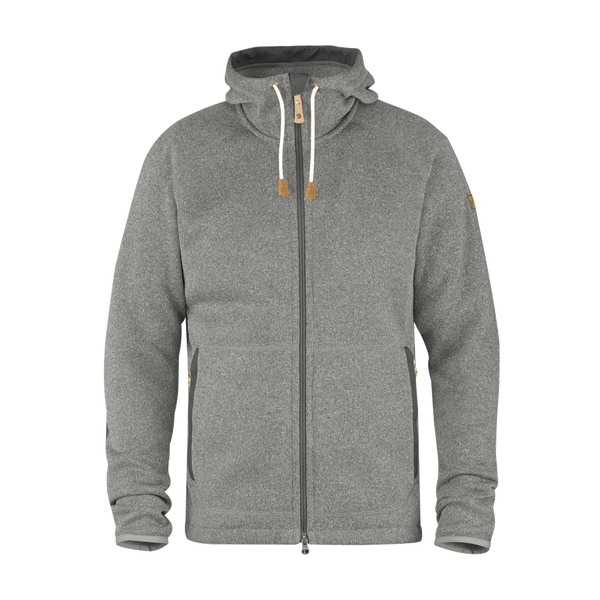 Fjallraven Men's Ovik Fleece Hoodie Dark Grey