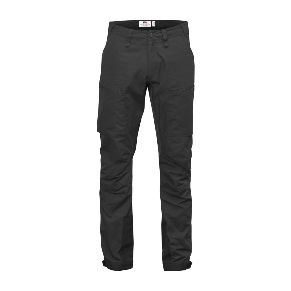 Fjallraven Men's O Abisko Lite Trekking Trousers Dark Grey/Black