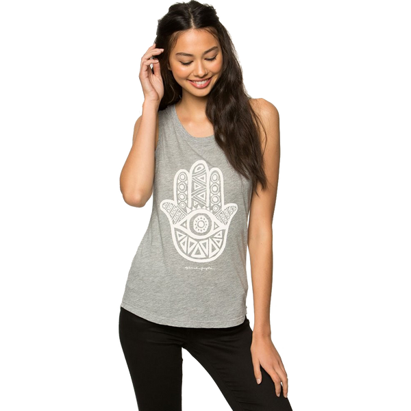 Spiritual Gangster Women's Jamsa Eye Tank Heather Grey