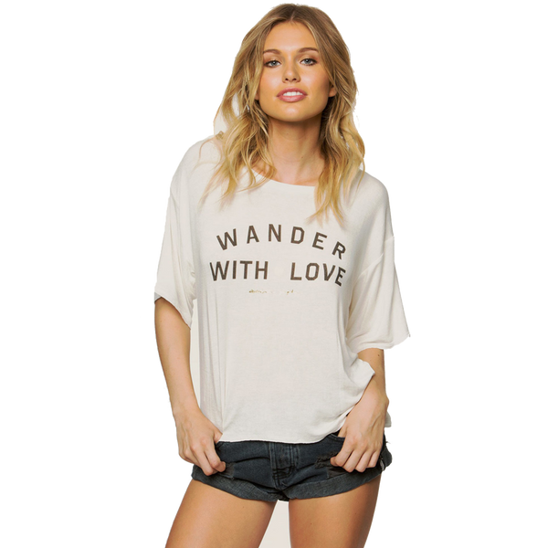 Spiritual Gangster Women's Wander With Love Top Stardust