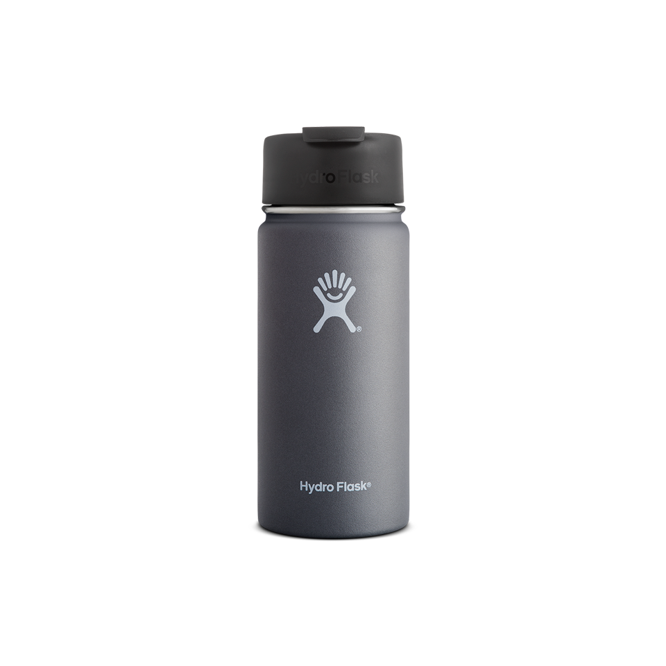 Hydro Flask 16oz Wide Mouth Flip Lid Graphite