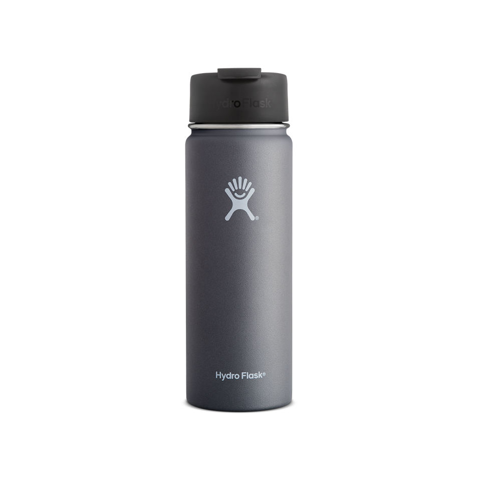 Hydro Flask 20oz Wide Mouth Flip Lid Graphite