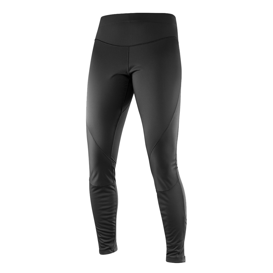 Salomon Women's Trail Runner Windstopper Tight Black