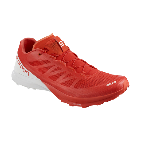 Salomon Men's S/LAB Sense 7 Racing Red/White